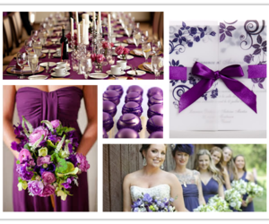 bridesmaids, lavender, and mariage image
