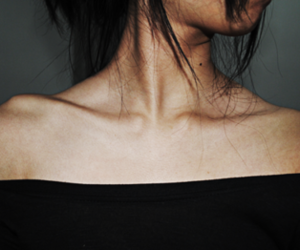 skinny, bones, and collar bones image