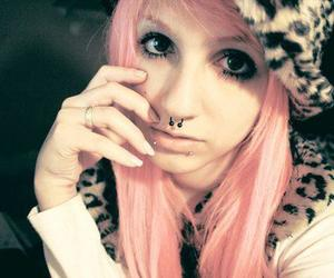 girl, piercing, and lindsay woods image