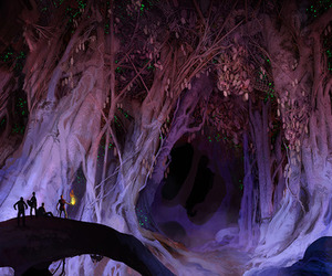 tree, fairy tales, and purple image