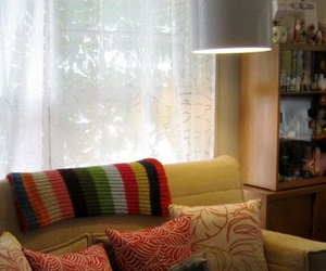 apartment, blanket, and couch image