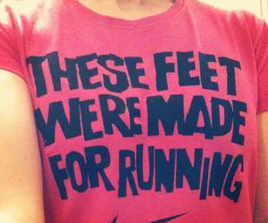 running, nike, and workout image