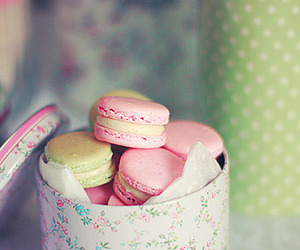 macarons, food, and pink image