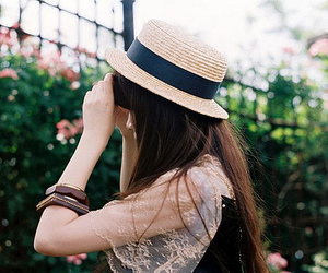 bangles, fashion, and hat image
