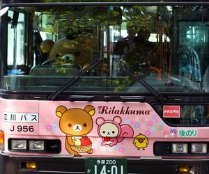 rilakkuma, bus, and japan image