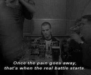 pain, quote, and sad image
