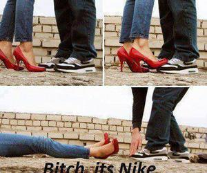 nike, funny, and shoes image