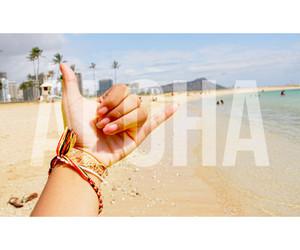 Aloha, beach, and ocean image