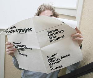 newspaper, funny, and news image