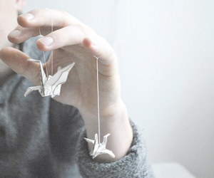 photography, bird, and origami image