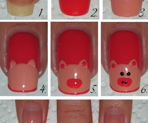 nails, diy, and pig image