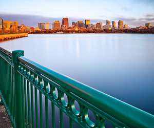 blue, boston, and bridge image
