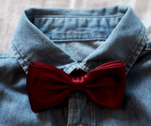 fashion, red, and bow image