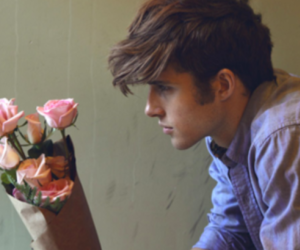 boy, flowers, and rose image