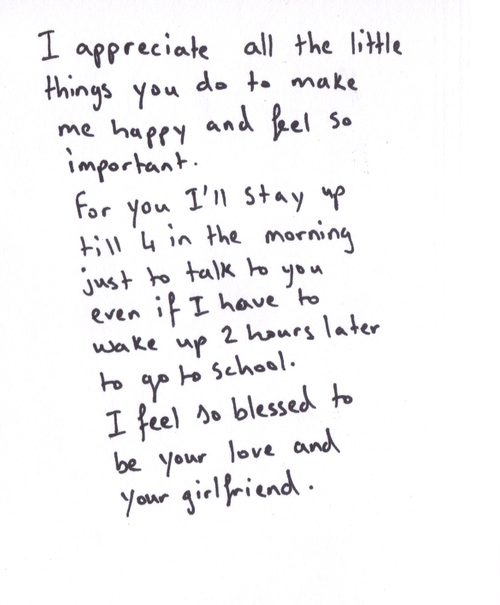 Short love letters to your boyfriend