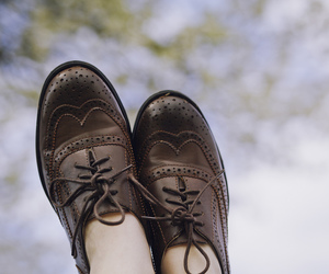 brown, oxford, and shoes image
