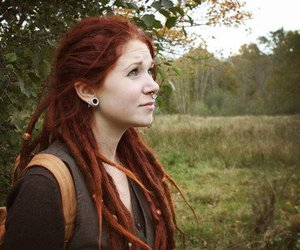 dreads, pretty, and red hair image