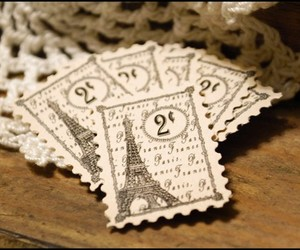 stamp, paris, and eiffel tower image