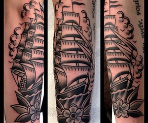 ink, sails, and ship image