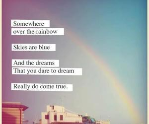 Dream, rainbow, and quote image