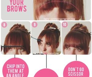 hair, diy, and bangs image