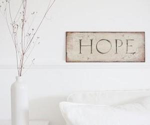 hope and white image