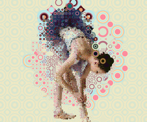 dance, graphic design, and mosaic image