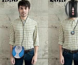 blouse, headphone, and headphones image