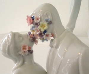 flowers, kiss, and porcelain image