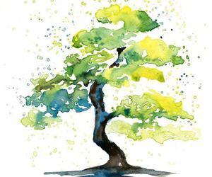 art, tree, and drawing image