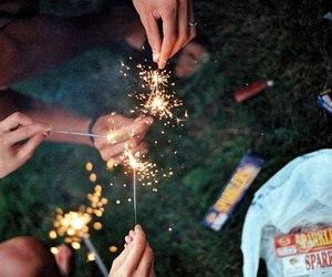 firework, hands, and vintage image