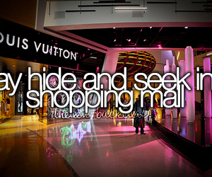 mall, fun, and hide image