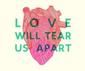 love, heart, and joy division image