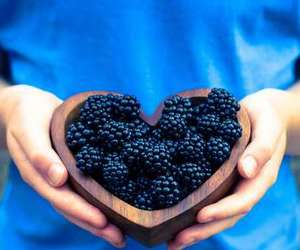 blue, heart, and blackberry image