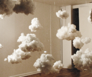clouds, room, and white image