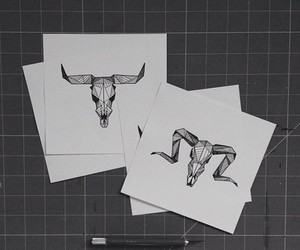 abstract, antlers, and art image