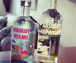 drink, vodka, and absolut image
