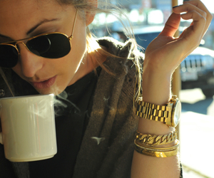 accessories, aviators, and coffee image