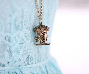 fashion, necklace, and dress image