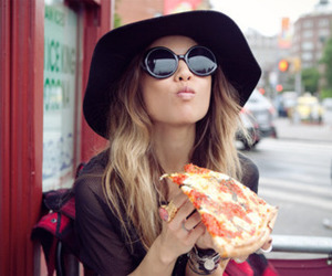 fashion, glasses, and pizza image