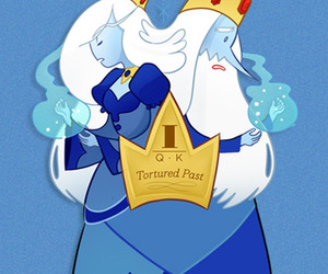 ice queen, ice king, and adventure time image