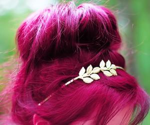 hair, pink, and summer image