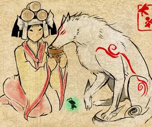art, beautiful, and okami image