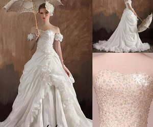 beautiful dress, bride, and fashion image
