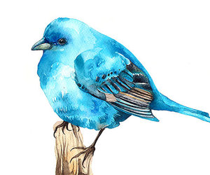 bird, blue, and painting image