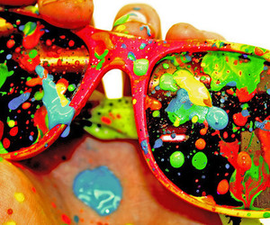 glasses, paint, and colors image