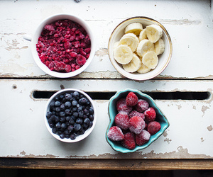 banana, blueberries, and food image