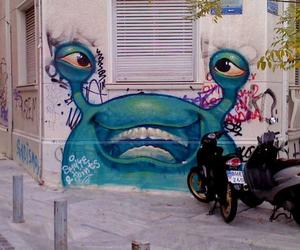 graffity and greek street art image