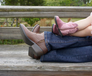boots, child, and Cowgirl image