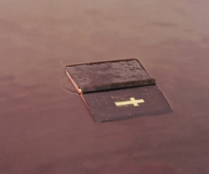 bible, cross, and water image